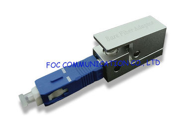 China SC Bare Fiber Optic Adapter Enable Quick and Easy Temporary Connections supplier