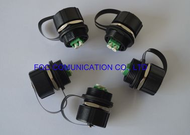 China LC Duplex ODVA Socket IP67 Waterproof For FTTA Use UV Resistent supplier