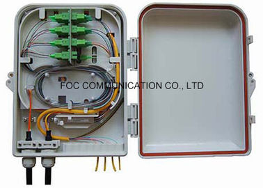 China Wall / Pole Mount Fiber Optic Termination Box 16 Core With PLC Splitter Steel Tube supplier