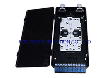 China Plastic Fiber Optic Termination Box 12 Fiber Loaded With SC Pigtails And Adapters supplier