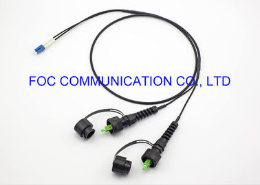 China IP67 Fiber Optic Patch Cord Assemblies ODVA / SC / APC- LC / UPC 2 Core TPU Jacket supplier