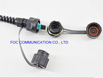 China Chemical Resistant Fiber Optic Patch Cable ODVA - MPO 2 Cores Outdoor FTTA Usage supplier