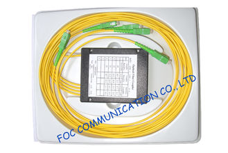China ABS Module Optical Fiber PLC Splitter 1 * 4 for Passive Optical Networks supplier