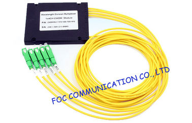 SC APC Connector optical Wavelength Division Multiplexer Low Insertion Loss