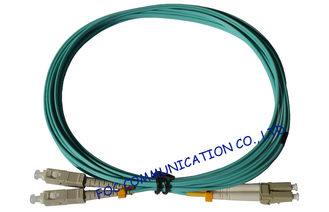 China OFNR Hytrel OM3 Optical Fiber Patch Cord Hybrid , Duplex Telecom Systems lc sc patch cord supplier