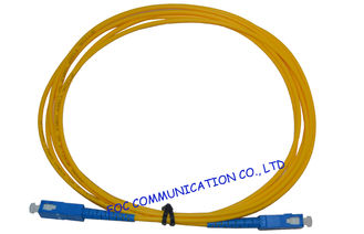 China High Presion Ferrule Fiber Optical Patch Cord , SM Simplex SC-SC supplier