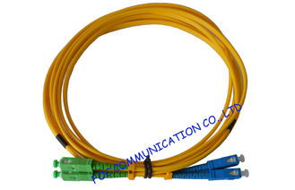China High Durability SC / APC Fiber Optic Patch Cord with LSZH jacket Ceramic Ferrule supplier