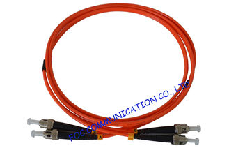 China LSZH OM1 Duplex Fiber Optic Patch Cord , Multi Mode ST ST Patch Cable supplier
