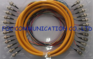 China 0.9mm Distribution Fan Out Fiber Optic Patch Cord 12Core for Telecom and Datacom supplier