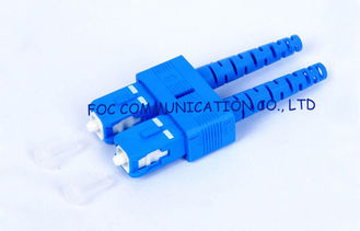 China SC SM 9 / 125um 3.0mm duplex fiber optic connector For WAN And LAN supplier