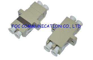China Fiber Optic Adapter LC Duplex Zirconia Ceramic Sleeve High Stability For FTTX supplier
