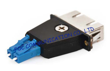 China Hybrid LC - SC and LC to ST Fiber Optic Adapter For Telecom Networks , Male to Female adapter supplier