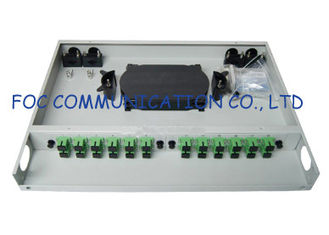 China Rack Mount Fiber Optic Patch Panel Fixed Type With SC Adapter For CATV supplier