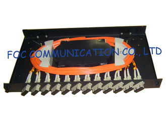 China Fiber Optic Patch Panel 12Port With SC Multimode Duplex Adapters and Pigtails supplier