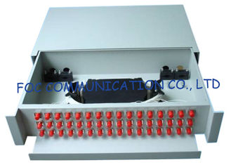 China High strength Sliding Fiber Optic Patch Panel / FC 48 port patch panel supplier