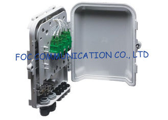 China Fiber Optic Distribution Box 8 Ports Splitters and Adapter Loaded For FTTH Networks supplier