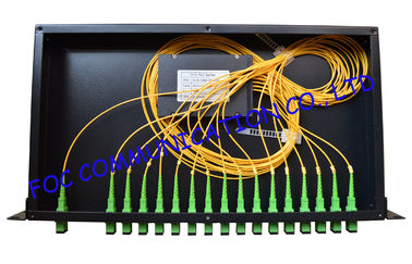 China Low PDL Rack Mount Fiber Plc Splitter Ftth / Passive Optical Splitter supplier