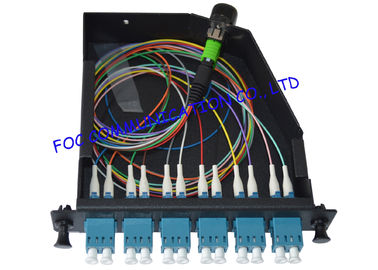 China LGX MPO Cassette 12Core With MPO- LC Patch Cord For Fiber Telecoms supplier