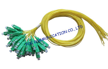 China SM LAN Optical Fiber Pigtail 12 Pack SC / APC Low Insertion Loss supplier
