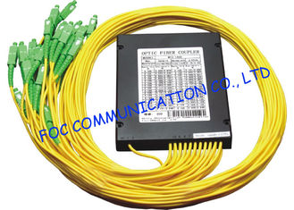 China Telecom Networks Fiber PLC Splitter with SC / APC Connector ABS Module supplier