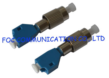 China FC Male to LC Female Hybrid Fiber Optic Adapter , optical fiber coupler Telecom Use supplier
