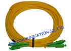 PVC SM Fibre Optic Patch Cables SC / APC Duplex Low Insertion Loss