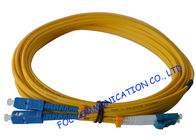 China SC To LC SM Optical Fiber Patch Cord 9/125 Single Mode 3.0mm For WAN Systems factory