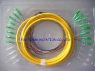 China High Stability Bundle Fan Out Optical Fiber Pigtail LC / APC 8 Core SM For LAN factory