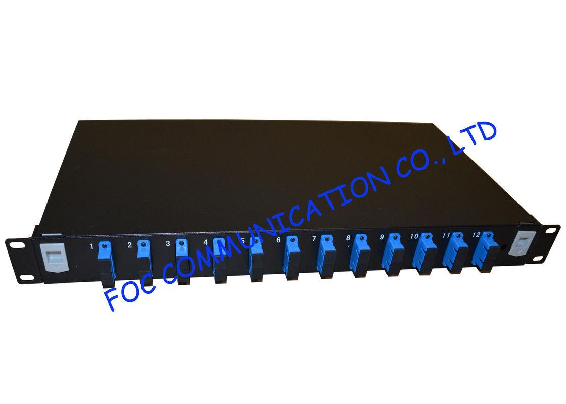 High Density Fiber Optic Patch Panel For Telecoms Fiber