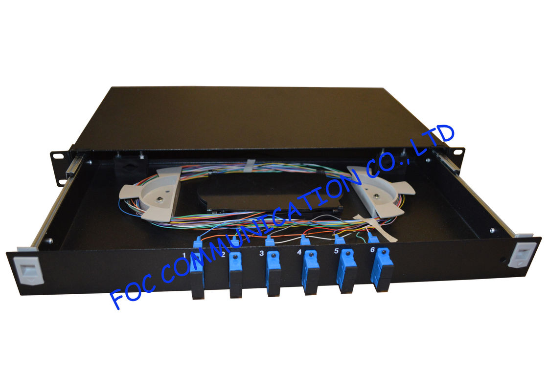 d480f45e47cd Singlemode 1U Fibre Optic Patch Panel 12 Ports Full Loaded With SC Pigtail