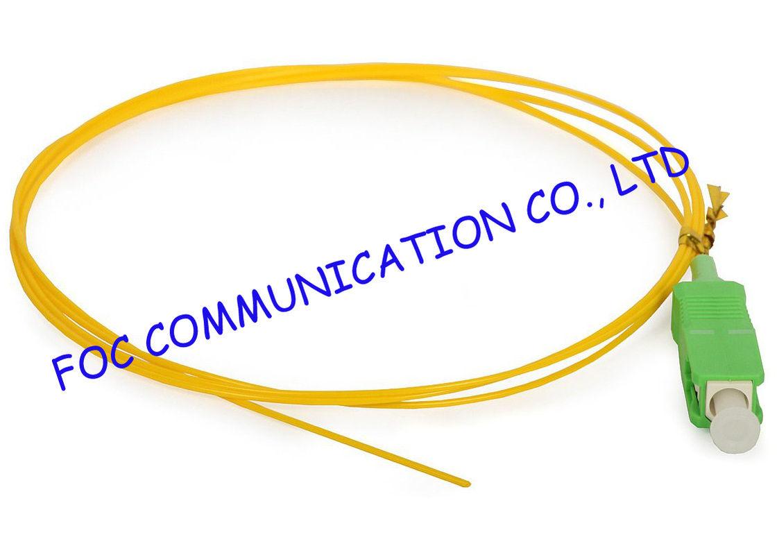 SC / APC Corning optical fiber pigtail SM Hytrel Low Insertion Loss ...