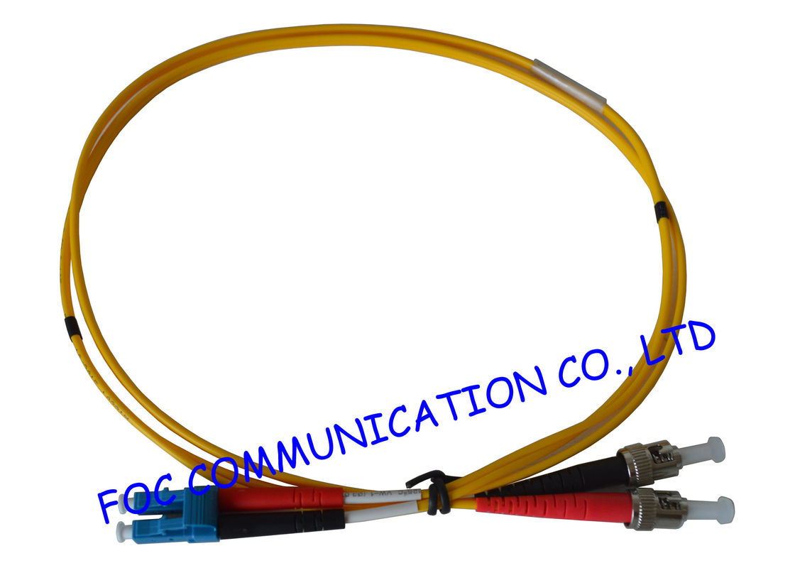 LC - ST SM Fiber Optic Patch Cord , Single Mode fiber optic