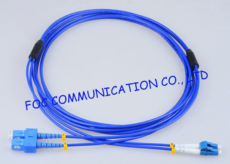 Armored Fiber Optic Patch Cable SC - LC G.652D High Resistance Duplex