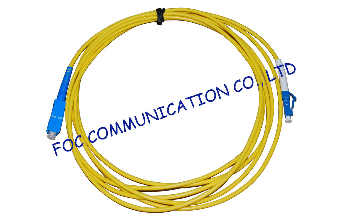 Simplex Singlemode Fiber Optic Cable Patch Cord For Ftth Systems Wiring Including Single Mode China Low Insertion Loss Supplier