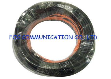 China Outdoor Fiber Optic Patch Cord Armored SMA Black Jacket UV Resistant FTTH Use factory
