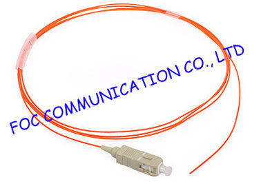 China SC OM1 900um 1 Meters LSZH fibre optic pigtails With Precision Ferrule For FTTX factory