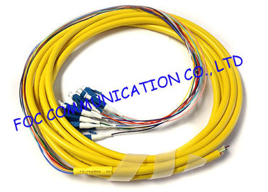 China Fan Out LC / UPC pigtail fiber optic 12 Core With High Tensile Strength distributor