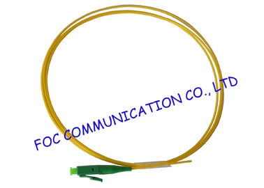 China Flame Resistant Fiber Optic Pigtail LC / APC SM G.655 LSZH Jacket For Telecom factory