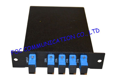 China 1*4 Fiber PLC Splitter LGX Type Rack Mount With SC / UPC Connector Low Insertion distributor