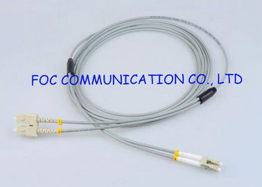 China Zipcord Multimode Fiber Optic Cable SC To LC Optical Patch Cord , ROHS SGS ISO factory