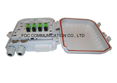 China Fiber Terminal Box 12 Core ABS Plastic To Load PLC 1:8 Steel Tube Type Splitter distributor