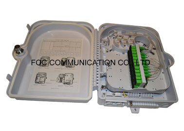 China Fiber Splitter Termination Box 24 Core Fiber Optic Patch Panel With 1x16 PLC Blockless distributor