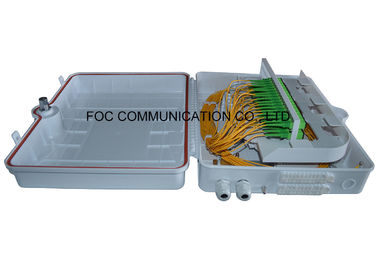 White Fiber Optic Cable Termination Boxes ABS Moduel PLC Splitter 1x32