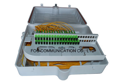 China ABS Fiber Optic Termination Box 48 Port With Pre - Installed Fiber Splitters factory