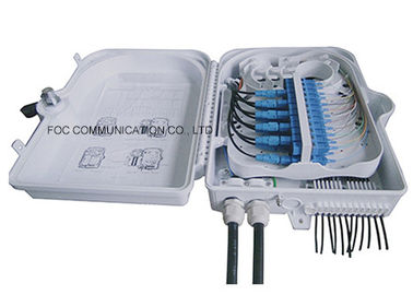 China Waterproof IP65 Cable Termination Box 24 Core Pigtails And Adapters For FTTH factory