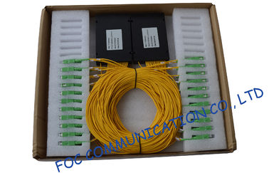 ABS Module Low PDL Fiber PLC Splitter For Ftth / Catv Systems