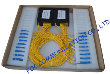 China High Return Loss Fiber PLC Splitter 1 × 8 / Compact Pallet Splitter distributor