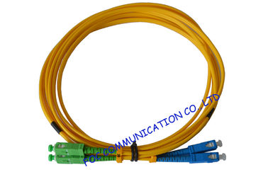 China High Durability SC / APC Fiber Optic Patch Cord with LSZH jacket Ceramic Ferrule factory