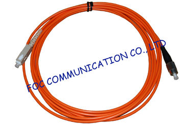 China Multi Mode LSZH Jacket Fiber Optic Ethernet Cable  SC-FC Connector factory