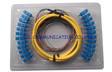 China LSZH SC Fiber Optic Pigtail Multi Core Distribution Fan Out Singlemode factory